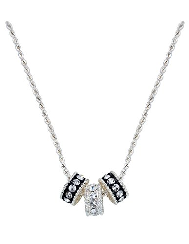 Montana Silversmith Crystal Shine Three Ring Necklace - NC1032 - Montana Silversmiths Crystal