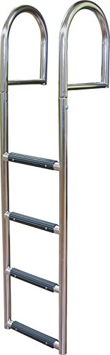 5 Step Stationary Dock Ladder, Stainless 316 - Jif - Stationary Dock