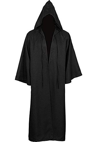 Skymecos Adult & Kids Tunic Hooded Robe Halloween Cosplay Costume Robe Cloak Cape Black ()