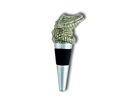 Vagabond House Pewter Alligator Bottle Stopper 4