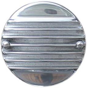 FORK エアクリーナーカバー Slip-On Cover, 7フィンフラット SUキャブ、ハーレー用 1139-61