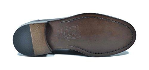Piel de Of Mocasines para marrón Scotland Saxone marrón Hombre qwTaxvtIC