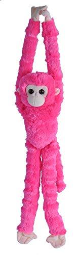 (Wild Republic Hanging Plush Monkey Plush, Stuffed Animal, Plush Toy, Gifts for Kids, Pink, 22