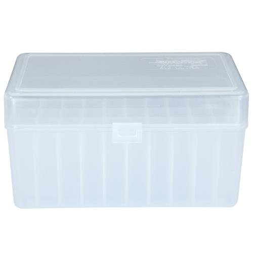 Berry's Ammo Box 412 (300 Ultra) 50rd Clear Plastic Fits 7mm Rum, 300 Rum, 338 Rum, 300 H&H, 338 Lapua, 500 A Square Durable Use. Made in USA