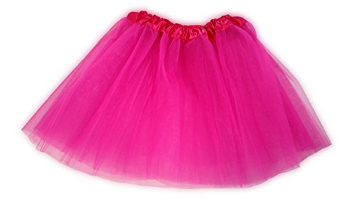 Tutu Ballet Party Dress Skirt for Girls and Toddlers - Ballerina or Princess Dress Up Pretend Play Costume (Hot (Play Girls Hot)