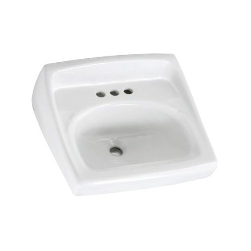 (American Standard 0355.912.020 Lucerne 4-Inch Faucet Spread Wall-Hung Lavatory Less Overflow,)