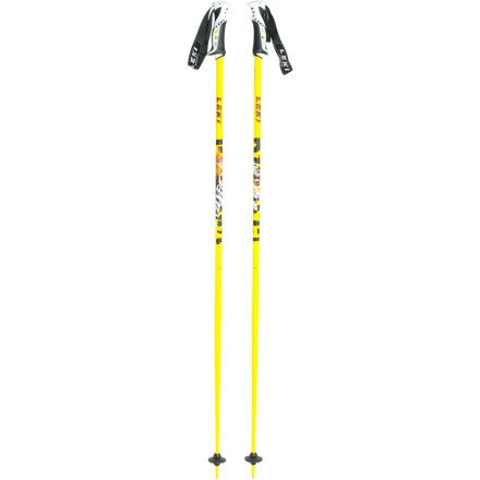 Leki Blast Ski Pole (Yellow/Black/Orange, 48-Inch), Outdoor Stuffs