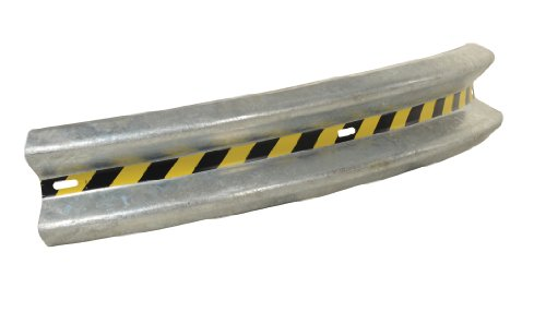 vestil gr-6-crv 90grados Galvanizado Curved Guardia Rail, 182,9cm longitud, 30,5cm Altura