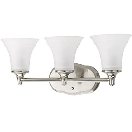 Delta 3 Light Lorain Brushed Nickel Bathroom Vanity Light Amazon Com