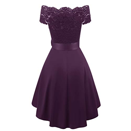 COPPEN Women Formal Mini Lace Chiffon Dress Prom Evening Party Cocktail Bridesmaid ()