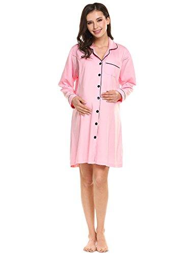 Ekouaer Maternity Nursing Breastfeeding Nightgown product image