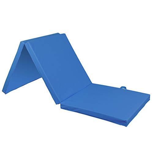 JedaJeda Tri-Fold Gym Home Aerobics Mats for Gymnastics, Stretching, Core Workouts 6'x 2′