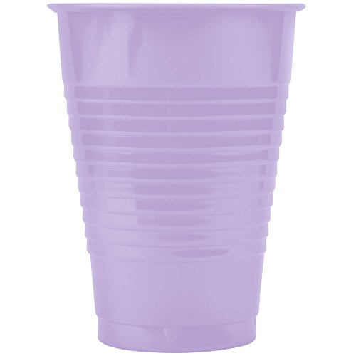 Creative Converting 28193071 12 oz. Luscious Lavender Purple Plastic Cup - 240/Case