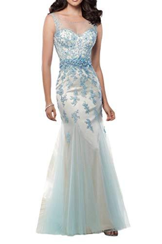 Trumpet Lang Braut Promkleider La Romantisch Rock Schmaler Partykleider Abendkleider Spitze Schnitt Rosa mia qnwvAFwz