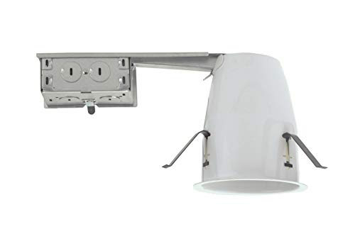 NICOR Lighting 4-Inch Non-IC Rated Universal Airtight Recessed Remodel Housing (19001AR)