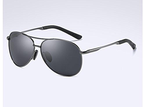 sol TL de macho gris gafas Gafas gafas polarizadas gris Vintage HD Gafas gray Frame Mens gray Sunglasses Guía rrqwCxv