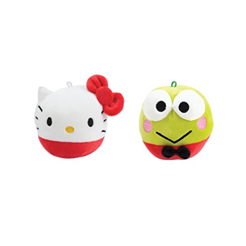 Sanrio Fluffball Ornament 2 Pack - Hello Kitty and Keroppi (Halloween Tv Specials Netflix)