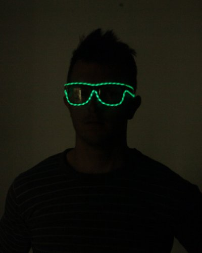 Light Up Motion EL Wire Sunglasses