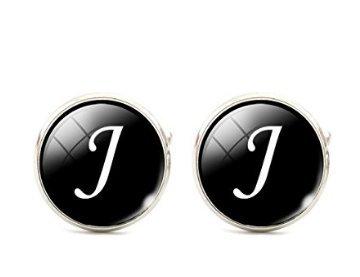 TODAY Men Alphabet Cufflinks Single Initial Letter Business Cuff Links A-Z ()
