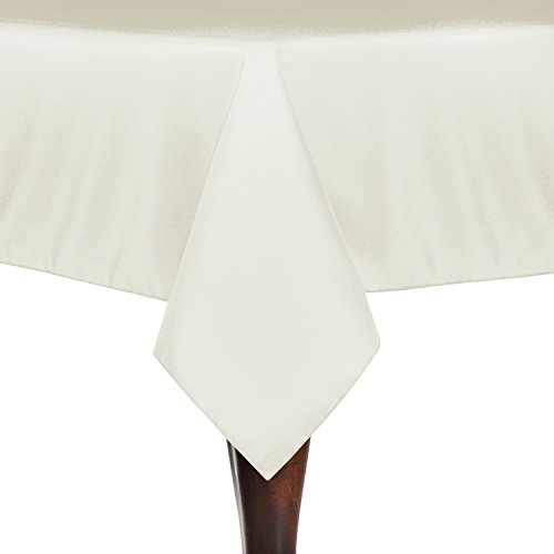 Ultimate Textile (10 Pack) 84 x 84-Inch Square Polyester Linen Tablecloth - for Wedding, Restaurant or Banquet use, Ivory Cream by Ultimate Textile