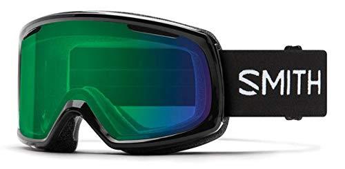 (Smith Optics Riot Women's Snow Goggles - Black/Chromapop Everyday Green Mirror/One Size)