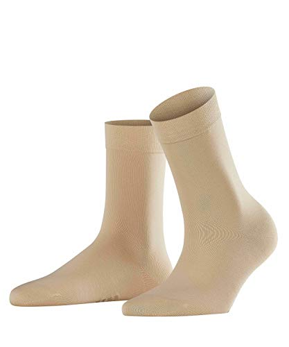 Falke Women's Cotton Touch Trouser Socks, Cream, 35-38 (5-7.5 US) -