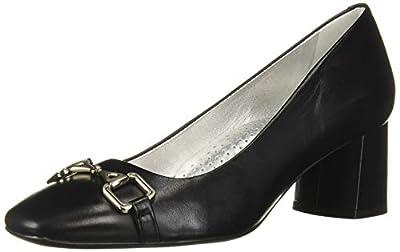 MARC JOSEPH NEW YORK Women's Leather Astoria Pump Bit Buckle Detail