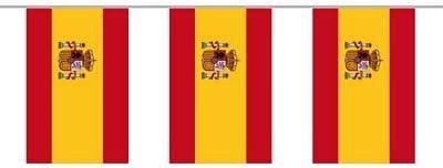 Bandera Cadena Cadena de bandera de bandera de España 6 m: Amazon.es: Deportes y aire libre
