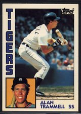 Amazoncom 1984 Topps Alan Trammell 510 Detroit Tigers