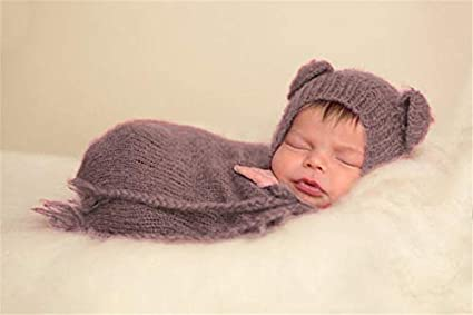 Newborn Photography Props Wraps Baby Crochet Knitted Sleeping Bag Photo Props