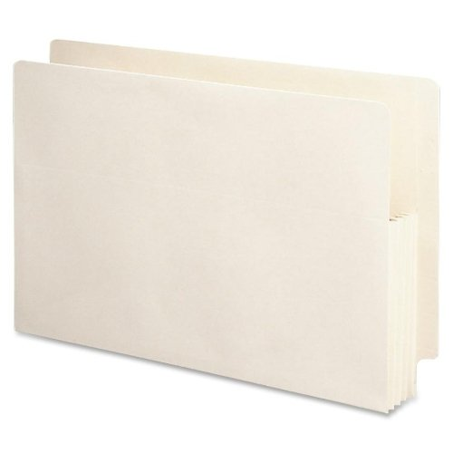 Wholesale CASE of 5 - Smead Recycled End Tab File Pockets-File Pockets, 3-1/2'' Exp, 15-3/8''x9-1/2'', Legal, 25/BX, MA