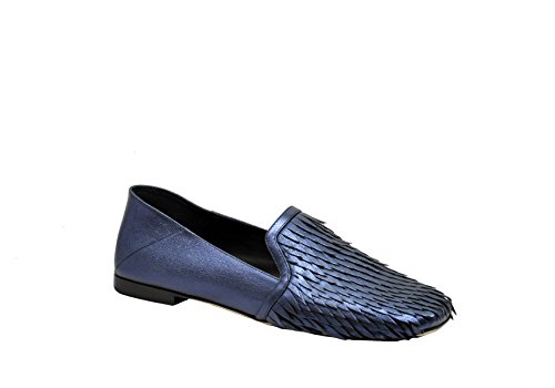 Greymer Ladies 50005lizkissblue Mocassini In Pelle Blu