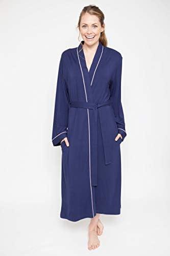 "Cyberjammies /""ROSIE/"" bleu marine en tricot femmes longue robe robe de chambre 4070"