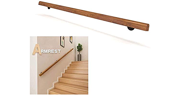 Professional Non-Slip Wood Stair Rail Home Against The Wall Indoor Loft Elderly Railings Handrails Corridor Support Rod Complete Kit Length: 1ft-20ft Size : 4ft Wyyggnb Stair Handrail
