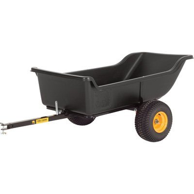 Tires Atv Trailer (Polar Trailer 8233 HD 1500 Heavy Duty Utility and Hauling Cart, 98 x 54 x 31-Inch 1500 Lbs Load Capacity Rugged Wide-Track Tires Quick Release Tipper Latch Tilt & Pivot Frame, Black)
