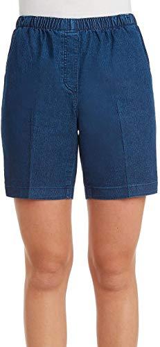 Alia Denim Jeans - Alia Womens Denim Pull On Shorts 16 Indigo Blue