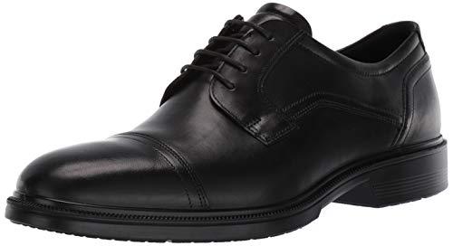 (ECCO Men's Lisbon Cap Toe Tie Oxford, Black, 45 EU/11-11.5 M)