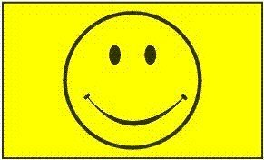 Face Poly (Happy Face (Smiley yellow) Flag: 3x5ft poly)