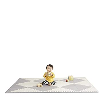Skip Hop Playspot Foam Play Mat For Baby, Grey Cream, 70 X 56