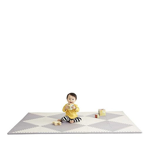 Soft Foam Floor Mat (Skip Hop Geo Grey-Cream Playspot Foam Floor Tile Playmat, Chevron)