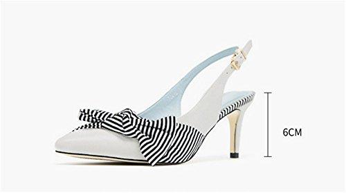Clásicas zapatos Altos ElegantesSolo la Tacones Tacones mujer white Charol Heel Cerrado Shoes elegantes Ruanlei luz alta Mujer Tacones Sexy de de vacía Altos fashion xqSTOI6