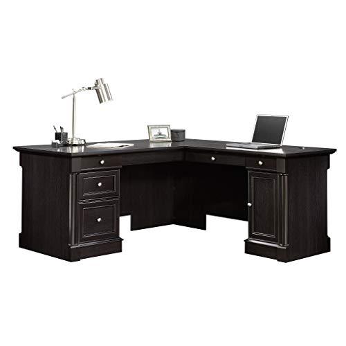 """Sauder 417714 Palladia L-Desk, L: 68.74"""" x W: 65.12"""" x H: 29.61"""", Wind Oak finish"""