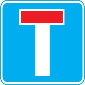 Site Traffic Sign - No Through Road - Dead End (3mm