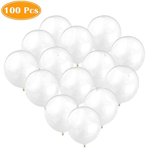 100pcs 12 inch 2.8g/pc Clear Latex Balloons Transparent Balloon Wedding/Party/Brithday Decoration Ball Globos]()