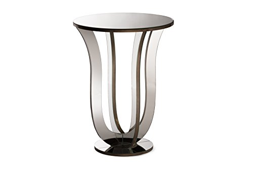 Baxton Studio Kylie Modern and Contemporary Hollywood Regency Glamour Style Mirrored Accent Side Table - Regency Style Furniture
