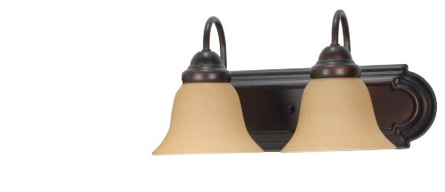 Mahogany Light 2 - Nuvo Lighting 60/3121 Ballerina Vanity Light with Champagne Glass, Mahogany Bronze, 18-Inch 2-Light