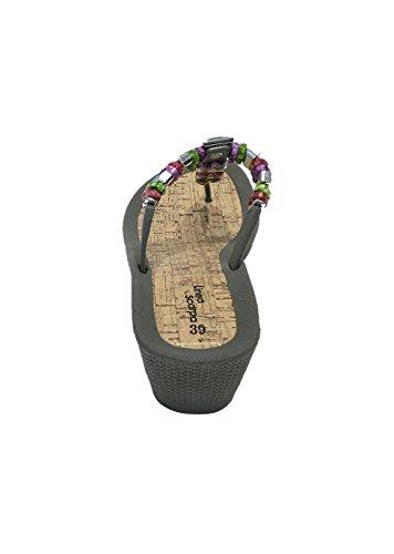 Chanclas Gris Dianette Baño Malibu Tacón Scarpa Mujer Zapatillas Linea wIq6zaW