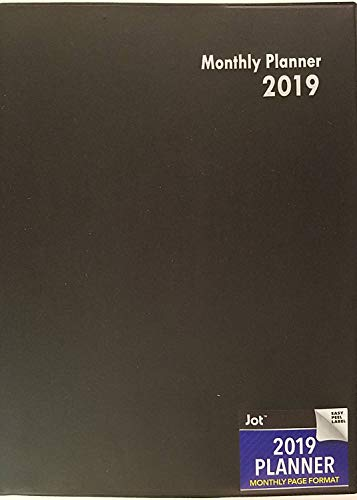2019 Planner, Monthly Page Format (Black) (Metric And Imperial Conversion Charts And Tables)