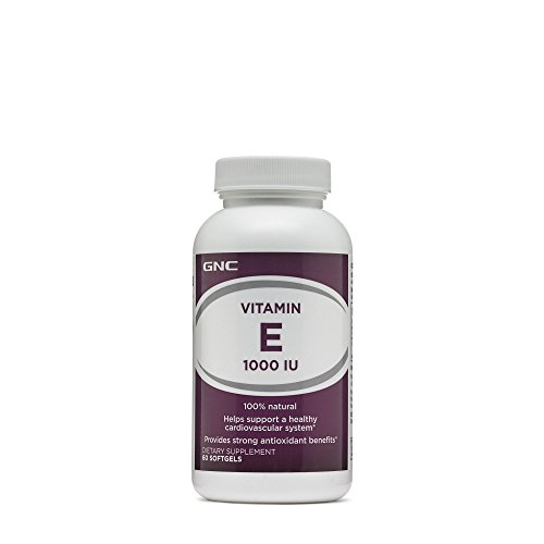 GNC Natural E 1000, Softgel Capsules, 60 ea