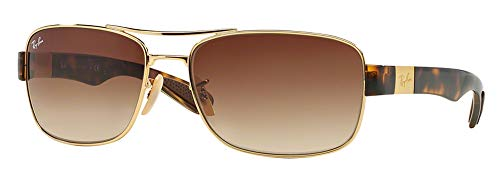 Ray-Ban RB3522 001/13 64M Arista/Brown Gradient Sunglasses For Men Authentic Ray Ban Sunglasses